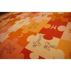 Covor copilăresc Puzzle portocaliu