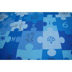 Detský koberec PUZZLE modrá