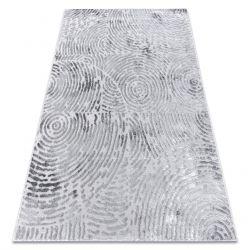 Modern MEFE szőnyeg 8725 Körök ujjlenyomat - Structural két szintű gyapjú szürke
