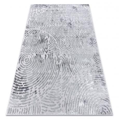 Dywan MEFE nowoczesny 8725 Koła odcisk palca - Strukturalny, dwa poziomy runa szary