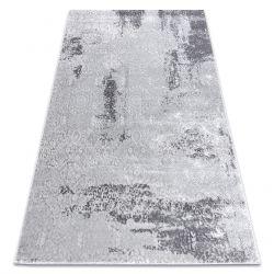 Tapete MEFE moderno 8731 Vintage - Structural dois níveis de lã cinza cinzento