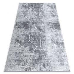 Moderní MEFE koberec 2783 Mramor - Strukturální, dvě úrovně rouna šedá
