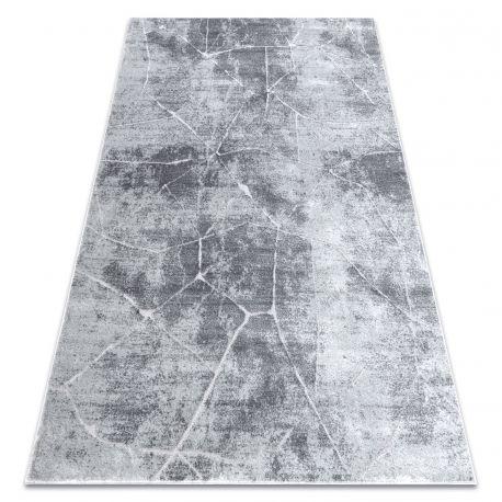 Dywan MEFE nowoczesny 2783 Marmur - Strukturalny, dwa poziomy runa szary