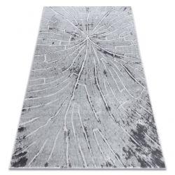 Moderní MEFE koberec 2784 Pařez stromu - Strukturální, dvě úrovně rouna šedá