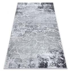 Moderní MEFE koberec 6182 Beton - Strukturální, dvě úrovně rouna šedá