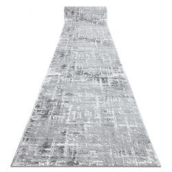 Tapis de coluoir Structural MEFE 8722 deux niveaux de molleton gris / blanc