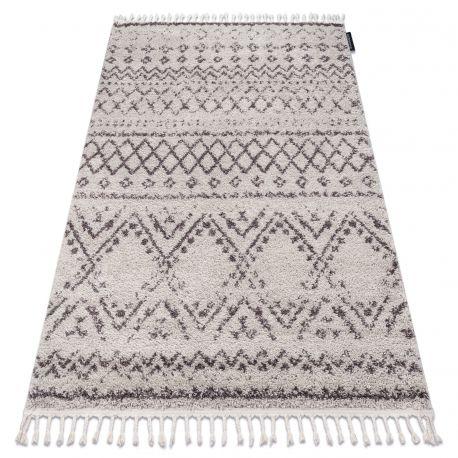 Carpet BERBER RABAT G0526 cream / brown Fringe Berber Moroccan shaggy
