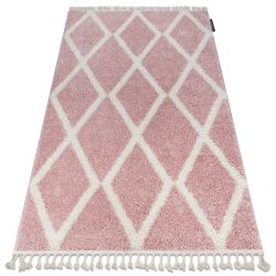 Carpet BERBER TROIK A0010 pink / white Fringe Berber Moroccan shaggy