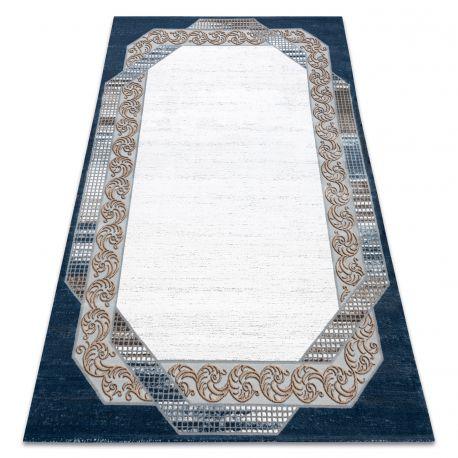Dywan AKRYL VALS 0A030A C69 46 Ramka ornament kość słoniowa / niebieski