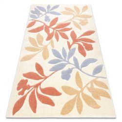 Teppich FEEL 1595/17933 Blätter beige/terrakotta/violett