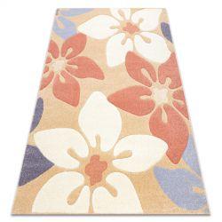 Carpet FEEL 1602/17911 Flowers beige/terracotta/violet