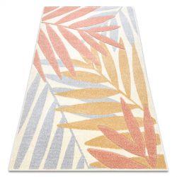 Teppich FEEL 1827/17933 Blätter beige/terrakotta/violett