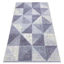 Teppich FEEL 5672/17944 Dreiecke beige/violett
