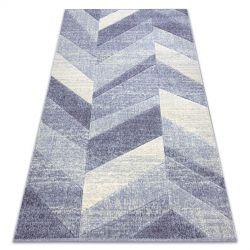 Teppich FEEL 5673/17944 Fischgrätenmuster beige/violett