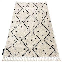 Teppich BERBER TETUAN B751 Zickzack sahne Franse berber marokkanisch shaggy