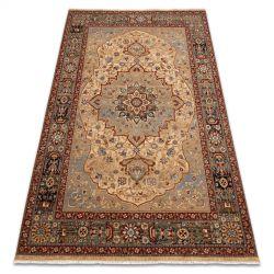 Teppich Wolle KESHAN Franse, Rosette orientalisch 7519/53555 beige / dunkelblau