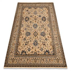 Carpet Wool KESHAN fringe, oriental classic 7521/53555 beige / navy