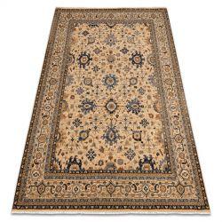 Teppich Wolle KESHAN Franse, orientalisch klassisch 7521/53555 beige / dunkelblau