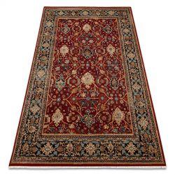 Teppich Wolle KESHAN Franse, orientalisch klassisch 7522/53588 beige / rotwein / dunkelblau