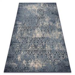 Koberec Vlna NAIN vintage 7010/50911 tmavě modrá / béžový