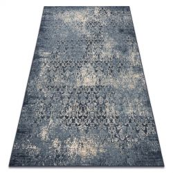 Teppich Wolle NAIN vintage 7010/50911 dunkelblau / beige