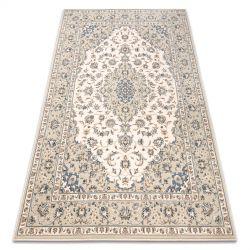 Teppich Wolle NAIN Ornament vintage 7335/50935 beige / blau