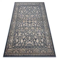 Carpet Wool NAIN Ornament vintage 7557/50944 beige / navy