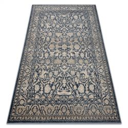 Teppich Wolle NAIN Ornament vintage 7557/50944 beige / dunkelblau