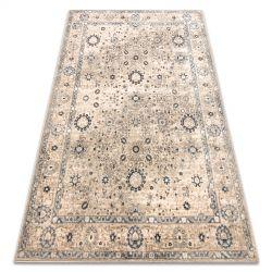 Carpet Wool NAIN Frame ornament vintage 7586/50935 beige / navy