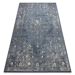 Carpet Wool NAIN Rosette vintage 7599/50911 navy / beige