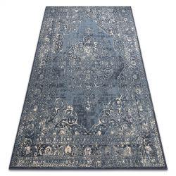 Teppich Wolle NAIN Rosette vintage 7599/50911 dunkelblau / beige
