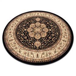 Kulatý koberec ROYAL ADR model 521 černý