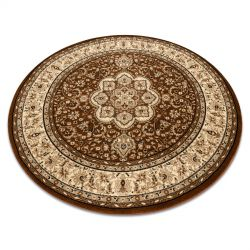 Kulatý koberec ROYAL ADR model 521 hnědý
