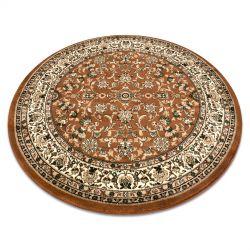 Kulatý koberec ROYAL ADR vzor 1745 hnědý