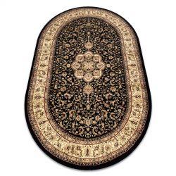 Carpet ROYAL ADR oval design 521 black
