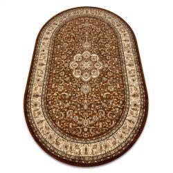Carpet ROYAL ADR oval design 521 brown