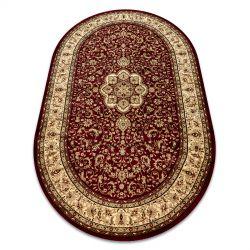 Carpet ROYAL ADR oval design 521 claret