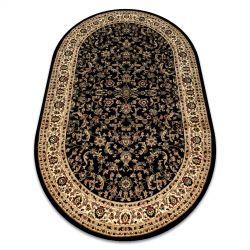 Koberec ROYAL ADR ovál model 1745 černý