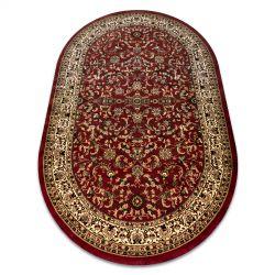 Carpet ROYAL ADR oval design 1745 claret