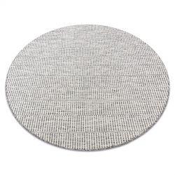 Fonott sizal szőnyeg LOFT 21198 Kör boho elefántcsont/ezüst/taupe