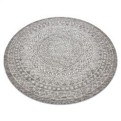 Carpet SISAL LOFT 21207 Rosette BOHO circle ivory/silver/taupe