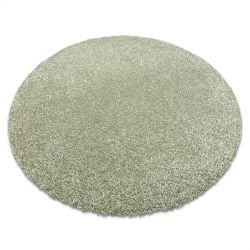 Tapis moderne lavable ILDO 71181044 cercle vert olive