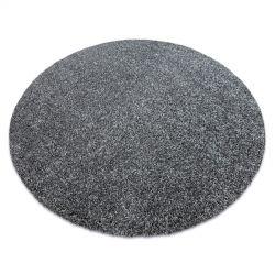 Tapis moderne lavable ILDO 71181070 cercle anthracite gris