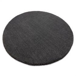 Tapis moderne lavable LATIO 71351100 cercle gris