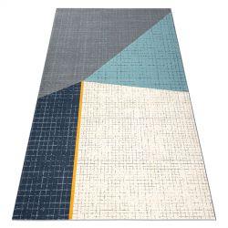 Carpet SCANDI 18525671 - Trapeze grey cream turquoise