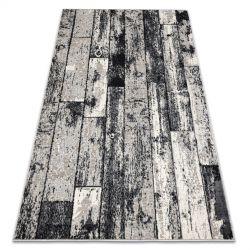 Dywan LISBOA 27211356 Płytki, deska parkiet prostokąty szary