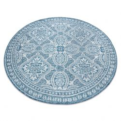 Koberec SISAL LOFT 21193 BOHO slonová kost/stříbrný/modrý