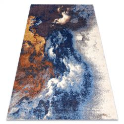 Carpet SOFT 8390 ABSTRACTION, CLOUDS blue / grey / cooper