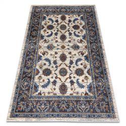 Soft szőnyeg 6019 virágok Keret bézs / kék / piros