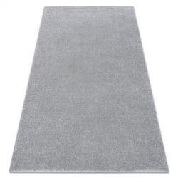Carpet SOFT 2485 plain, one colour silver